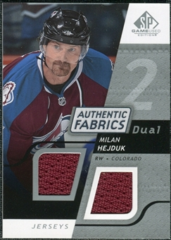 2008/09 Upper Deck SP Game Used Dual Authentic Fabrics #AFMH Milan Hejduk