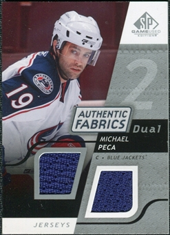 2008/09 Upper Deck SP Game Used Dual Authentic Fabrics #AFMP Michael Peca