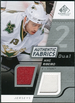 2008/09 Upper Deck SP Game Used Dual Authentic Fabrics #AFMR Mike Ribeiro