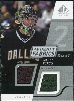 2008/09 Upper Deck SP Game Used Dual Authentic Fabrics #AFMT Marty Turco