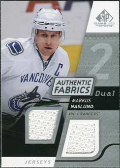 2008/09 Upper Deck SP Game Used Dual Authentic Fabrics #AFNS Markus Naslund