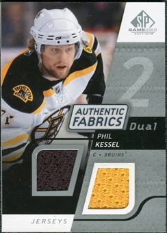 2008/09 Upper Deck SP Game Used Dual Authentic Fabrics #AFPK Phil Kessel