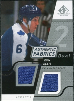 2008/09 Upper Deck SP Game Used Dual Authentic Fabrics #AFRE Ron Ellis