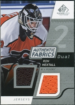 2008/09 Upper Deck SP Game Used Dual Authentic Fabrics #AFRH Ron Hextall