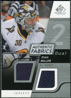 2008/09 Upper Deck SP Game Used Dual Authentic Fabrics #AFRM Ryan Miller