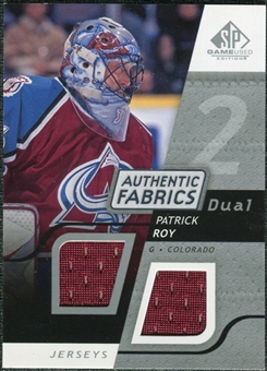 2008/09 Upper Deck SP Game Used Dual Authentic Fabrics #AFRO Patrick Roy