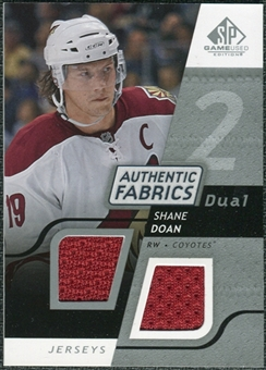 2008/09 Upper Deck SP Game Used Dual Authentic Fabrics #AFSD Shane Doan