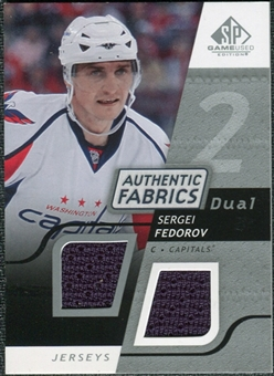 2008/09 Upper Deck SP Game Used Dual Authentic Fabrics #AFSF Sergei Fedorov