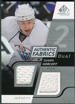 2008/09 Upper Deck SP Game Used Dual Authentic Fabrics #AFSH Shawn Horcoff