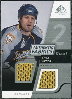 2008/09 Upper Deck SP Game Used Dual Authentic Fabrics #AFWB Shea Weber