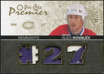 2007/08 Upper Deck OPC Premier Remnants Triples Patches #PRAK Alex Kovalev 29/35