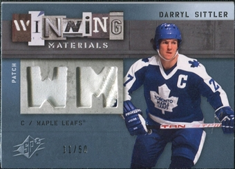 2009/10 Upper Deck SPx Winning Materials Spectrum Patches #WMDS Darryl Sittler /50