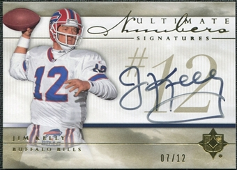 2008 Ultimate Collection Ultimate Numbers Signatures #UNA20 Jim Kelly 7/12