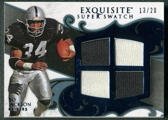 2008 Upper Deck Exquisite Collection Super Swatch Blue #SSBJ Bo Jackson 13/20