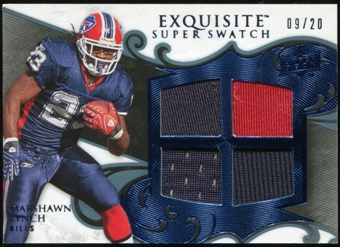 2008 Upper Deck Exquisite Collection Super Swatch Blue #SSML Marshawn Lynch 9/20