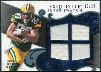 2008 Upper Deck Exquisite Collection Super Swatch Blue #SSNE Jordy Nelson 20/20