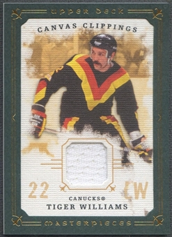 2008/09 UD Masterpieces #CCTW Tiger Williams Canvas Clippings Green Jersey #58/85