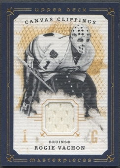2008/09 UD Masterpieces #CCRV2 Rogie Vachon Canvas Clippings Blue Jersey #48/50