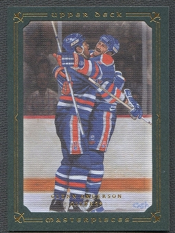 2008/09 UD Masterpieces #45 Glenn Anderson Green #08/99