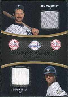 2008 Upper Deck Sweet Spot Swatches Dual #DMJ Don Mattingly/Derek Jeter