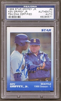 1989 Star Ken Griffey Jr. #4 Autographed RC PSA/DNA Slabbed