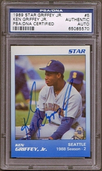 1989 Star Ken Griffey Jr. #5 Autographed RC PSA/DNA Slabbed
