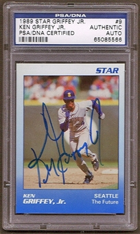 1989 Star Ken Griffey Jr. #9 Autographed RC PSA/DNA Slabbed