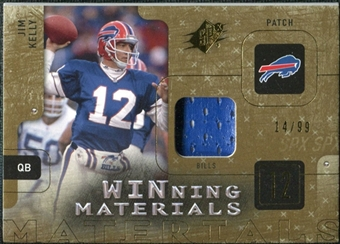 2009 Upper Deck SPx Winning Materials Patch #WJK Jim Kelly /99