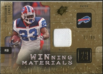 2009 Upper Deck SPx Winning Materials Patch #WML Marshawn Lynch /99