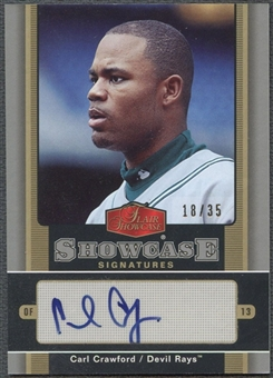 2006 Flair Showcase #CW Carl Crawford Signatures Auto #18/35
