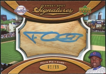 2007 Upper Deck Sweet Spot Signatures Bat Barrel Blue Ink #FP Felix Pie /99