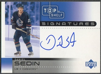 2002/03 UD Top Shelf #DS Daniel Sedin Signatures Auto