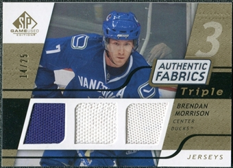 2008/09 Upper Deck SP Game Used Triple Authentic Fabrics Gold #3AFBN Brendan Morrison /25