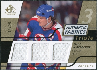 2008/09 Upper Deck SP Game Used Triple Authentic Fabrics Gold #3AFHA Dale Hawerchuk /25
