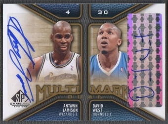 2009/10 SP Game Used #MDNT David West & Antawn Jamison Multi Marks Dual Auto