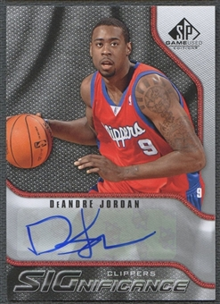 2009/10 SP Game Used #SDE DeAndre Jordan SIGnificance Auto