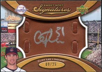 2007 Upper Deck Sweet Spot Signatures Glove Leather Silver Ink #CL Cliff Lee /25