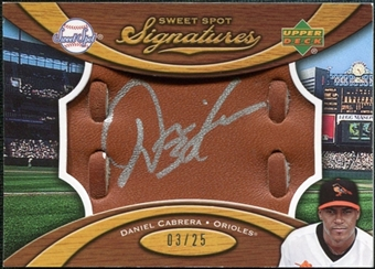 2007 Upper Deck Sweet Spot Signatures Glove Leather Silver Ink #DC Daniel Cabrera /25