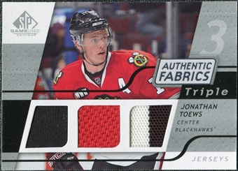 2008/09 Upper Deck SP Game Used Triple Authentic Fabrics #3AFJT Jonathan Toews