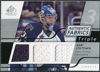 2008/09 Upper Deck SP Game Used Triple Authentic Fabrics #3AFKL Kari Lehtonen