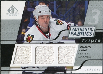 2008/09 Upper Deck SP Game Used Triple Authentic Fabrics #3AFLG Robert Lang