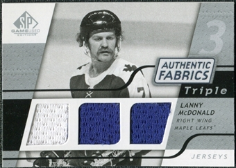 2008/09 Upper Deck SP Game Used Triple Authentic Fabrics #3AFLM Lanny McDonald