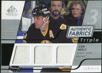 2008/09 Upper Deck SP Game Used Triple Authentic Fabrics #3AFNY Cam Neely