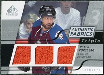 2008/09 Upper Deck SP Game Used Triple Authentic Fabrics #3AFPF Peter Forsberg
