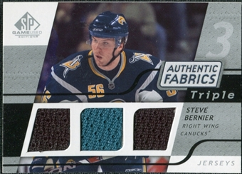 2008/09 Upper Deck SP Game Used Triple Authentic Fabrics #3AFSB Steve Bernier