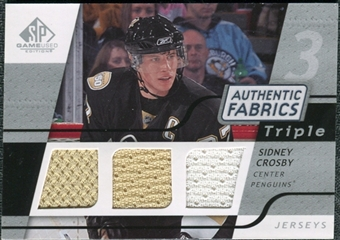 2008/09 Upper Deck SP Game Used Triple Authentic Fabrics #3AFSC Sidney Crosby