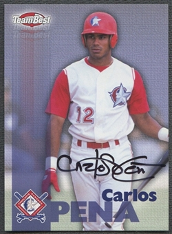 1999 Team Best #48 Carlos Pena Rookie Auto