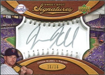 2007 Upper Deck Sweet Spot Signatures Silver Stitch Silver Ink #JK Jason Kubel /16