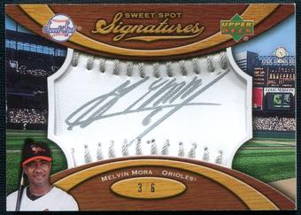 2007 Upper Deck Sweet Spot Signatures Silver Stitch Silver Ink #MM Melvin Mora 3/6