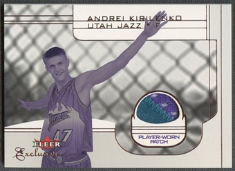 2001/02 Fleer Exclusive #139 Andrei Kirilenko Rookie Patch